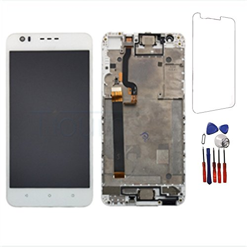 New LCD Display Touch Screen Digitizer Replacement Parts Assembly for HTC Desire 10 Lifestyle/Desire 825 D825U 5.5 inch + Frame White