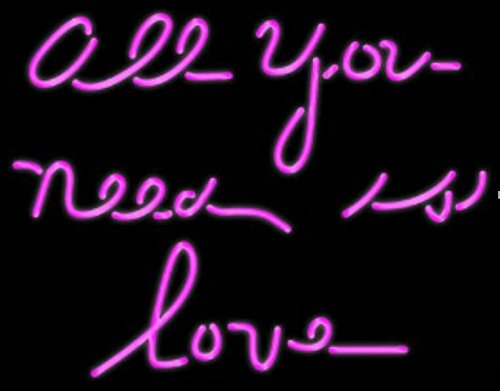 Mirsne All you need is LOVE 24'' by 24'' Neon signs, glass tube neon open sign, custom made neon beer sign, unique neon sign art, supplied for a wide range of personal and commercial uses.