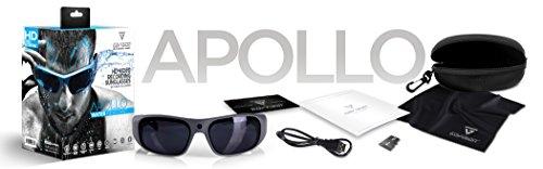 60e3a298632 GoVision Apollo 1080p HD Camera Glasses Water Resistant Video Recording  Sport Sunglasses - Black