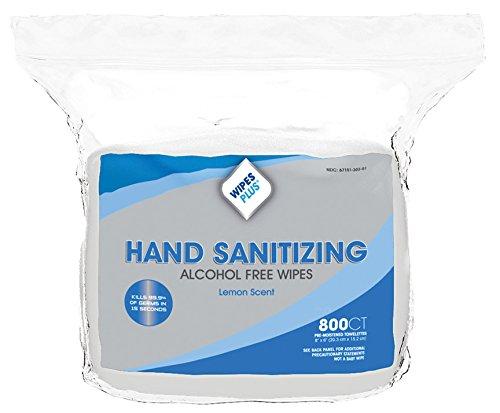 WipesPlus Antibacterial Wipes REFILL - Carton of 4 - 3200 Wipes