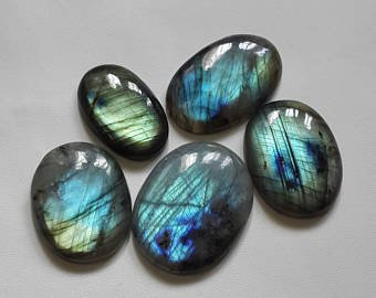 Crocon labradorite Palm Stones 5pz Set per realizzare gioielli di guarigione Reiki decorazione domestica e chakra bilanciamento Aura detergente