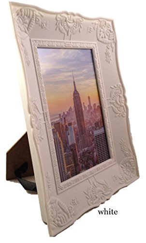4 Deep Pictures (Frame Amo Photo Picture Frame, Embossed Deep Bowl Border, 1.25