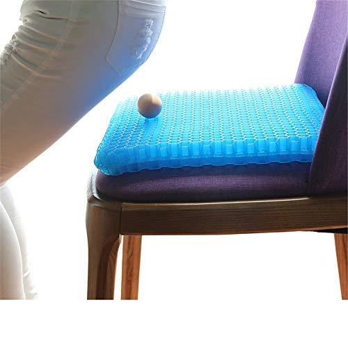 Cojin de asiento de silla Gel de la silla del asiento cojin de la silla de oficina del cojin del amortiguador de alta elastica silla del asiento de soporte del amortiguador Aliviar la fatiga de la cad