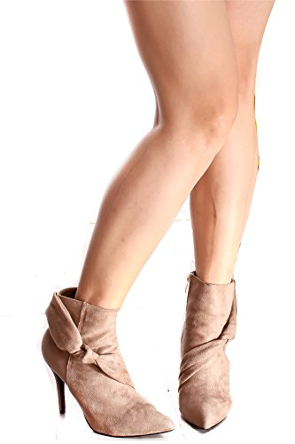 Lolli Couture Triple Strap Platform 6 Inch High Heel Taupe-fellow 7vrY7jo