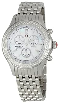 Michele Woman's MWW17A000001 Jetway Diamond Stainless Bracelet Watch