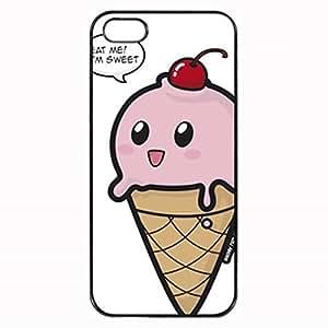 Cute Ice Cream Cone Cupcakes Custom Diy Unique Image Durable Rubber Silicone Case for Iphone 5 5S Case