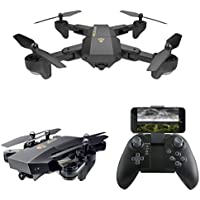 Nesee New Brand VISUO XS809HW Wifi FPV 2MP Camera 2.4G Selfie RC Quadcopter Toys (Black 1)