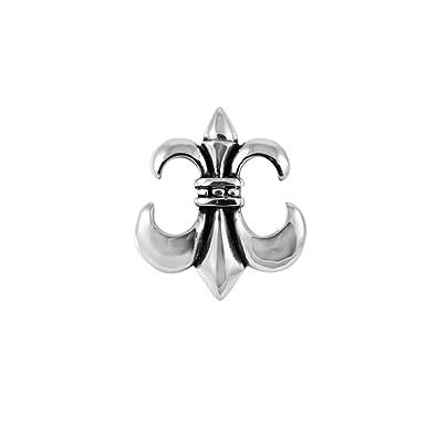 1800skull Stainless Steel 316l Upside Down Fleur De Lis Pendnat