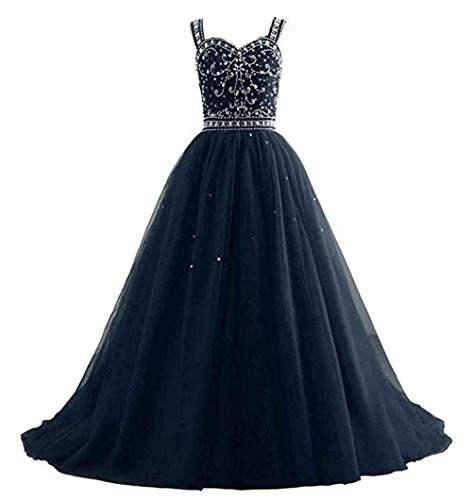 Girls Sweetheart Beaded Rhinestones Pageant Dresses Floor Length Navy Blue,Size 5
