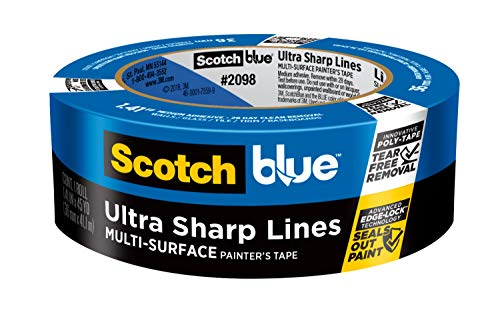 - ScotchBlue Ultra Sharp Lines Multi-Surface Painter's Tape, 1.41 inch x 45 yard, 2098, 1 Roll