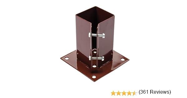 FIXMAN 995311 - Soporte sujeta postes (75 x 75 mm): Amazon.es: Bricolaje y herramientas