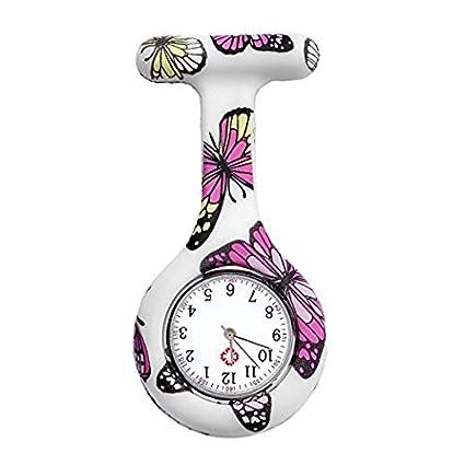 XeibD Enfermeras de Moda Reloj Colorido de la Enfermera con Dibujos de Silicio Doctor Watch Goma