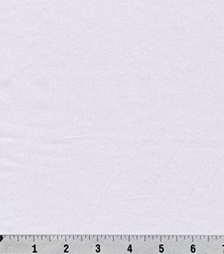 Cotton Sateen 100% Cotton Fabric - White PFD (5 yards)
