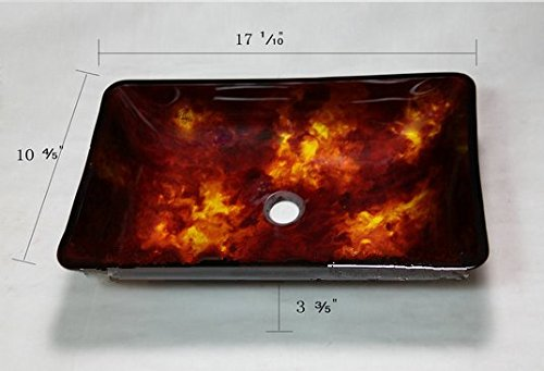 GOWE Fiery Red Artistic Victory Vessel Wash Basin Tempered Glass Sink Bathroom Basin With Brass 1