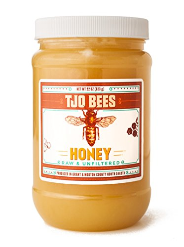 TJO Bees Raw and Unfiltered Honey (22 OZ)