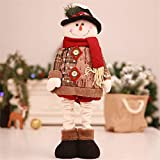 HSQM Standing Old Man Snowman Figurine Decoration Christmas Decorations