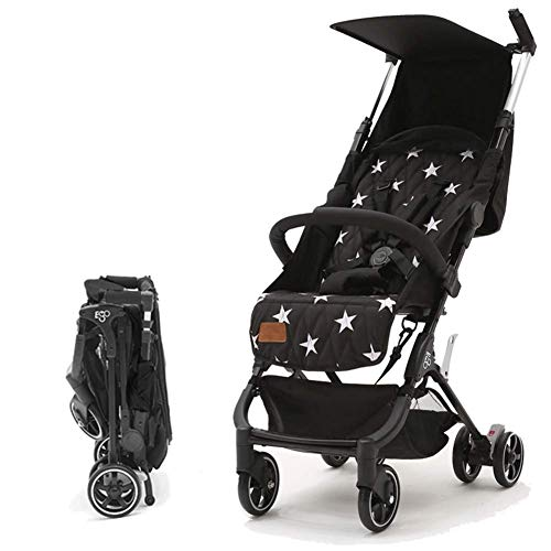 - WSJWINE Lightweight Pushchair Foldable and Compact Baby Stroller Travel System Comfortable Padded Seat and Backrest with Sitting and Lying Suitable for Airplane,A