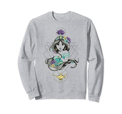 Disney Aladdin Colorful Boho Jasmine Graphic Sweatshirt