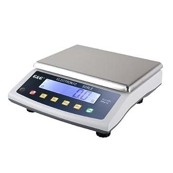 G&G - Báscula de precisión - Peso máximo: 15 kg / Granularidad: 0,