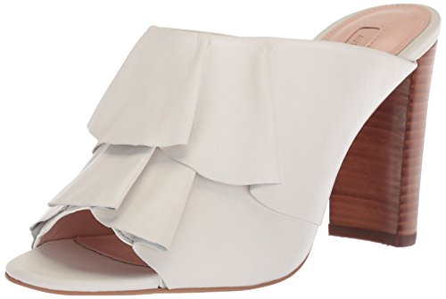 Avec Les Filles Women's Mallory Heeled Sandal, Off White Nappa, 7.5 M US