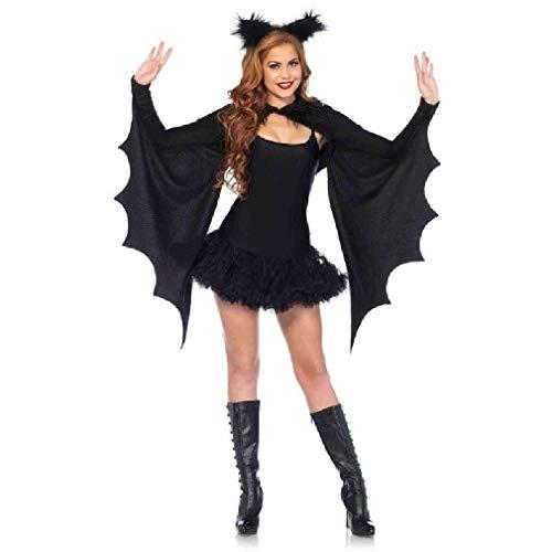Adult size Cozy Bat Wing Shrug & Ear Headband Kit Costume Accessory