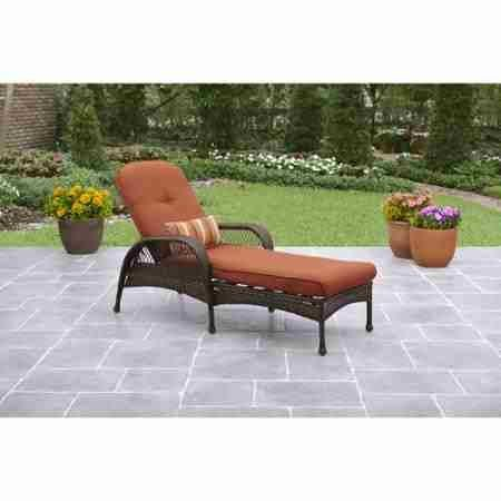 Better Homes and Gardens.. Durable Steel Frame Chaise Lounge (Orange) by Better Homes and Gardens..