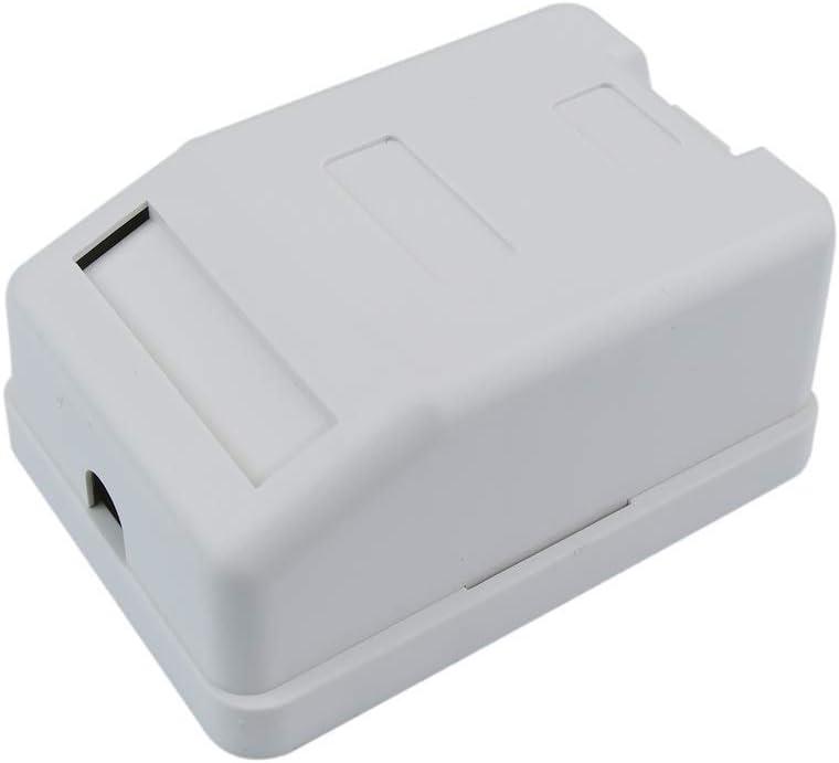BeMatik - Caja de superficie de 1 RJ45 Cat.6 FTP: Amazon.es: Informática