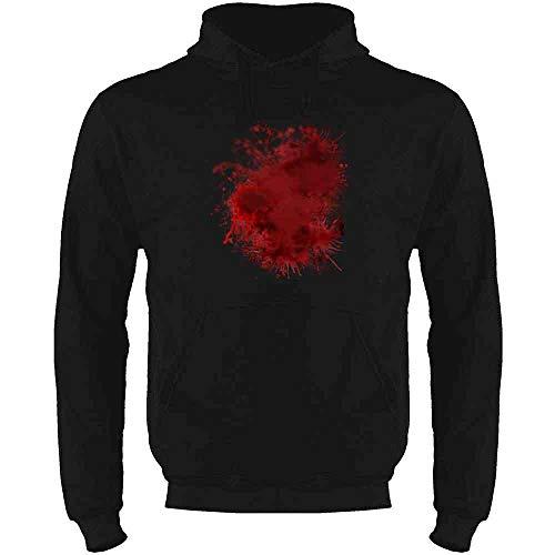 Pop Threads Blood Splattered Horror Bloody Halloween Costume Black S Sweatshirt Hoodies for ()