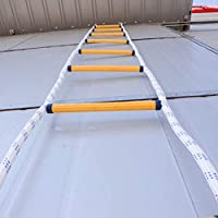 Aoneky Escalera de Cuerda de Escape de Incendio - Longitud de 5M (2 Pisos) Carga de 200KG, Escalera de Evacuación Emergencia Rescate, Escalera de Seguridad contra Incendios con Mosquetón: Amazon.es: Industria, empresas