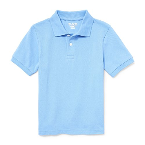 The Children's Place Big Boys' Short Sleeve Uniform Polo, Seaside Sail 2428, M (7/8) by The Children's Place