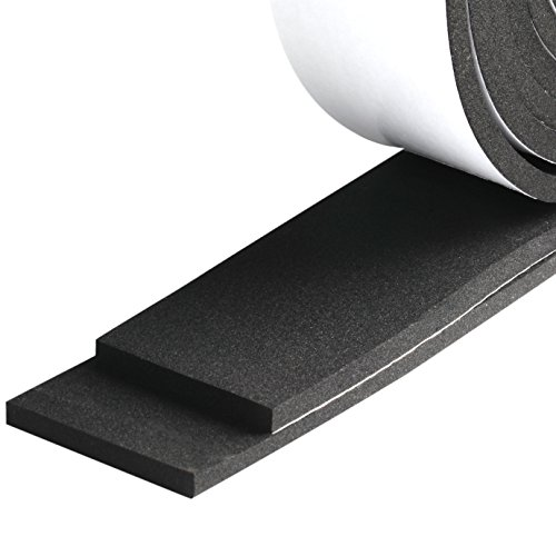 Weather Stripping, Foam Tape High Density Foam Seal Strip Window Weatherstrip Adhesive Insulation Foam 2 Inch Wide X 1/4 Inch Thick X 13 Feet Long (2in 1/4in)