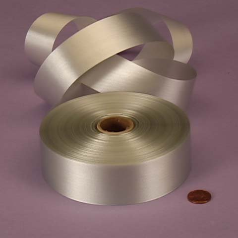 Silver Embossed Poly Satin Ribbon, 4433799 ()