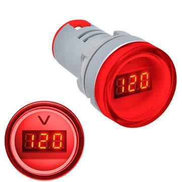 / Rouge BliliDIY 22Mm Ad16 Ad16-22Dsv Type AC 60-500V Mini Voltm/ètre LED Affichage Num/érique Voltm/ètre AC Voyant//Lampe Pilote 110V 220V