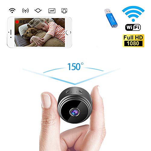 IVSUN Hidden Camera Mini Spy Camera WiFi Wireless HD 1080P Small Portable Security Camera Indoor Video Recorder Night Vision Motion Activated Covert Nanny Cam for Cars Home Apartment