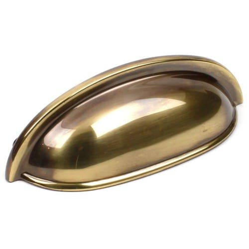 Century 19353 Yukon 3 Inch Center to Center Cup Cabinet Pull, Polished Antique