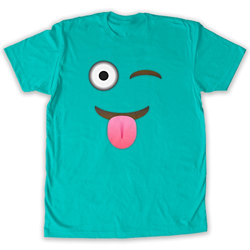 Function - Eye wink Emoticon Halloween Costume Men's Fashion T-Shirt -