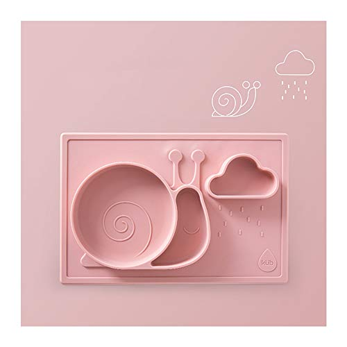 - ZXG-FLATWARE Baby Plate, Disc Tray, Suction Cup, Bowl, Food Bowl, Baby Sucker Bowl, Silicone Mat, Children's Tableware (Color : B)
