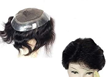 Majik Human Hair Australian Toupee Wig Patch Hair Pieces For Men Black 9x6 Inch With Free Hair Dryer Amazon In Beauty