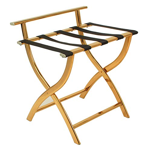 荷物ラック- ホテル荷物棚ステンレススチール荷物椅子折りたたみ棚荷物棚付きホテルの部屋 (色 : B) B07Q7Y4LPX B