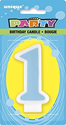 Blue 1st Birthday Candle by Unique