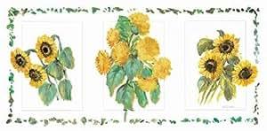 Flower trio II - Fine Art Print on Fine Art Paper - PRINT ONLY -NO FRAME - 44 x 21 Inch