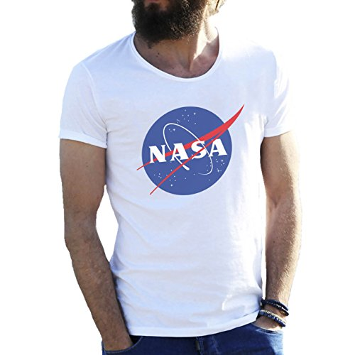 NASA Space Astronaut Logo Retro Scientist Meatball Geek Big Bang Theory Gift White Mens T-Shirt in Extra Large Sizes 5X Large