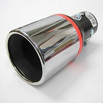 Autohobby 256 - Embellecedor de tubo de escape, universal, acero inoxidable hasta 57 mm de diámetro, cromado: Amazon.es: Coche y moto