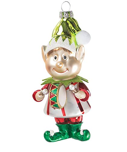 Sullivans Drum Elf 2.5 x 6 Inch Handblown Glass Hanging Christmas Ornament (Frostys Favorite Ornament)