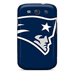 Rugged Skin Case Cover For Galaxy S3- Eco-friendly Packaging(new England Patriots Logo)