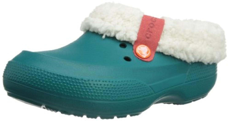 Crocs Blitzen II, Unisex-Child Clogs, Pink (Party Pink/Nautical Navy), 3 UK
