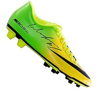 more photos 532a3 56879 Wayne Rooney signé Chaussure de football - Nike Mercurial Vert/jaune ...