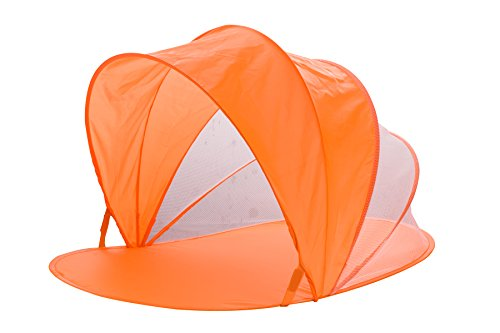 """Snoozy Toddler and Pets Easy Pop Up Shade Tent With Slip on Cover and Handles, Orange, 42""""x20"""""""