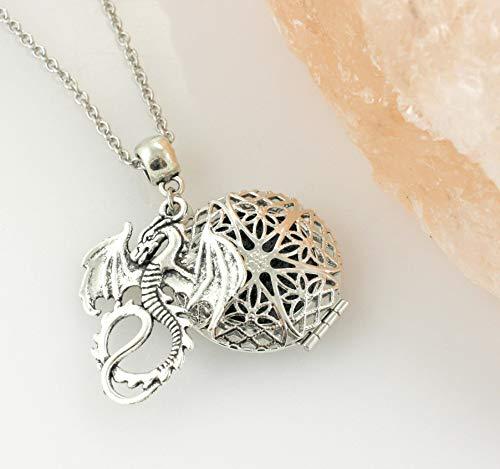 (Dragon Photo Locket Necklace)