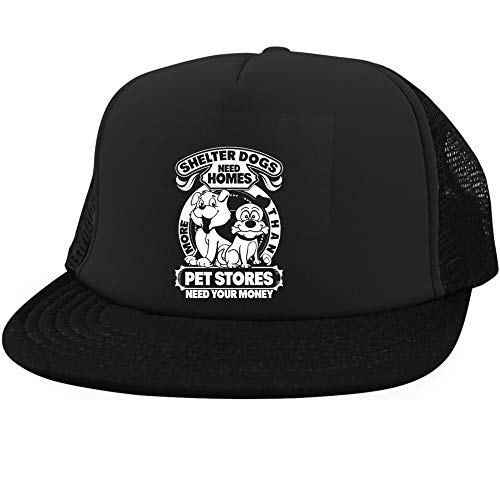 More Than Pet Stores Cap, Shelter Dogs Need Homes District Trucker Hat (District Trucker Hat - Black)